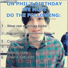 what to do on Phil Lesters birthday (Jan 30)