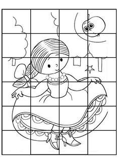 Fairy Tales, Crafts For Kids, Puzzle, Colouring In, Puzzles, Infant Crafts, Autism, Crafts For Children, Kids Arts And Crafts