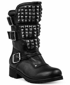 Cool boots!  If only I were younger...   Modern Vice Angels Studded Booties - Shoes - Macy's