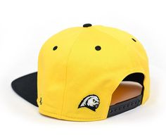 Ghost Owls - Yellow / Black Snapback Hat - Designed by CapEaters  http://www.capeaters.com/collections/hockey-team-hats/products/ghost-owls-yellow-black-snapback