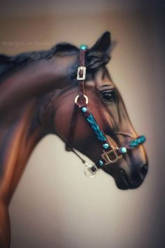 Model Horse Tack by MidnightLine Studio English Horses, Bryer Horses, Leather Halter, Horse Sculpture, Saddle Pads, Horse Tack, Equestrian, Fandom, Dogs