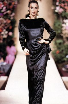 Helena Barquilla - Yves Saint Laurent Haute Couture F/W 1992 - scan by #lexeecouture http://lexeecouture.tumblr.com/archive http://www.pinterest.com/lexeecouture123/pins/