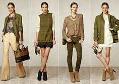 se jogue na tendência do militarismo Moda Fashion, Fashion 2017, Fashion Outfits, Womens Fashion, Fashion Trends, Style Casual, My Style, Capsule Outfits, Winter Looks