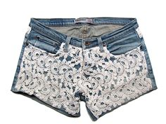 Shorts con aplicaciones de crochet Primavera Verano 2013 DIY