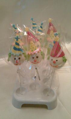 Clown Cake Pops ~ Like the Fan Page: http://www.facebook.com/sweetbudsbakeryfans
