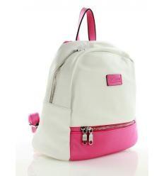 Sportowy plecak biały z różowym