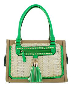 Take a look at this Green Tassel Scarlett Satchel by Melie Bianco on #zulily today! $49.99, regular 111.00