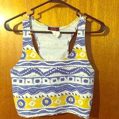 Aztec crop top Great with a pair of leggings or skinny jeans could even wear with a skirt. Easily dressed up or down with the right accessories Tops Crop Tops