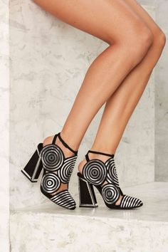 Kat Maconie Spiral Architect Suede Heel | Shop Shoes at Nasty Gal!
