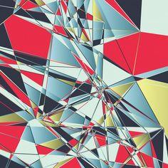 Polygonal abstract background, broken effect Free Vector