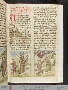 Cod. Pal. germ. 60: Historienbibel ; Irmhart Öser ; 'Brandans Reise' u.a. (Südwestdeutschland, um 1460), Fol 8r