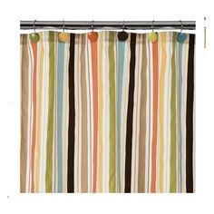 Home Striped Shower Curtain   Multicolor (72x72) Home