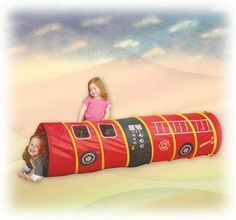 My Fire Truck 6' Tunnel by Pacific Play Tents. $58.88. Quick, crawl in the tunnel—we've got a fire to go to! This 6' fire truck tunnel encourages hours of inventive play, and features a zipper front end for added realism. There are also 4 mesh windows along the sides so the little firefighters can peek out. The flame-retardant polyester tube cleans up quickly with a damp cloth and mild soap. Includes a carrying case for compact storage and transport. Ages 2 years an...