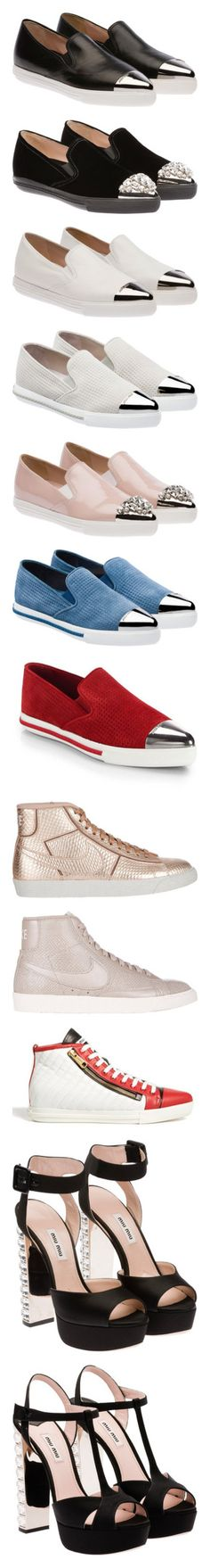 """miu miu shoes"" by madelineharlow ❤ liked on Polyvore featuring shoes, sneakers…"