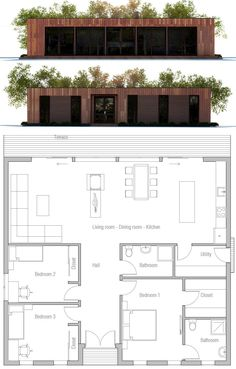 Plans, building a container home, modern house plans, small house plans, ho Small Modern House Plans, Modern Small House Design, New House Plans, House Floor Plans, Building A Container Home, Container Houses, Facade House, House Layouts, Future House