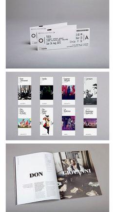 Cool, modern design helps to make something classic like opera seem more current - Standapart Brand identity - Opera Australia The Design Files, Web Design, Layout Design, Print Design, Logo Design, Graphic Design, Study Design, Media Design, Modern Design