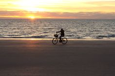 Can you really ride your bike on the beach?  If so, great exercise with a marvelous view!