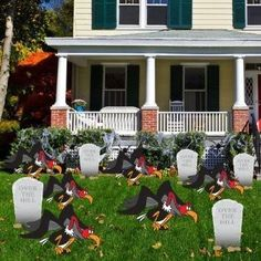 Birthday Yard Cards - Over The Hill with Buzzards and Tombstones Yard