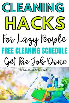 Cleaning Hacks To Have A Tidy Home FAST! Cleaning hacks everyone should know to save time! If you are overwhelmed by constantly cleaning your house, then here is my easy house cleaning schedule that will make your house a practically self-cleaning home. Weekly Cleaning, Cleaning Checklist, Deep Cleaning, Cleaning Hacks, Cleaning Schedules, Spring Cleaning, Kids And Parenting, Parenting Hacks, Clean House Schedule