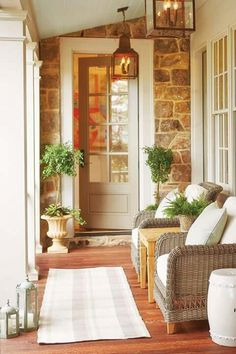New Exterior House Small Porches Ideas Small Porches, House Design, House, Southern Living Homes, Home, Porch Furniture, Front Porch Decorating, House Exterior, Southern Living