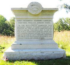 1st Vermont Cavalry monument at Gettysburg
