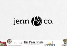 SALE Premade logo design minimalst logo ampersand logo photography logo website logo