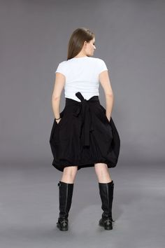 Balloon Front Ribbon SkirtParachute SkirtCOUTURE by ConceptStyle