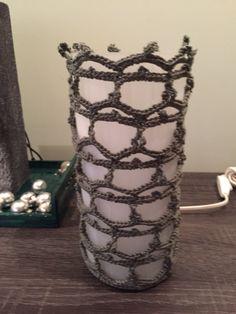 Lampje omgehaakt bij workshop Grenzeloos (4 you) Creatief in Wateringen