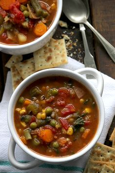Thick and Hearty Vegetable Soup, just like Grandma used to make on those cold winter days | SimpleGreenMoms.com | #soup #thicksoup #heartysoup