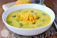 Broccoli Cheese Soup by Iowa Girl Eats