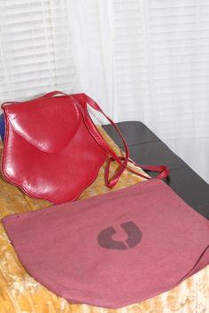 Vintage Charles Jourdan Red Leather Purse -- Handbags - Inspirations by Rebecca -- Charles Jourdan cross-body bag -- www.inspirationsbyrebecca.com