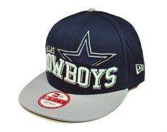 8a92bec324d NEW ERA Dallas Cowboys Cap 9Fifty Hat NFL Snapback Men Adjustable Navy Blue  Gray