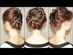 How to do Honey Cruller Twisted Spiral Updo Hair style with step by step