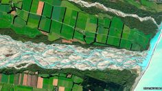 He also researched NZ from afar and pointed things out to me that he found, like this satellite photo of Rakaia River that won a contest.