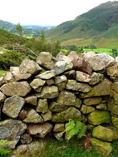 Dry stone wall, Lake District, England - Want to go back!!