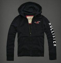 Hollister άνδρες Hoodies Zip κόκκινος Logo μαύρος