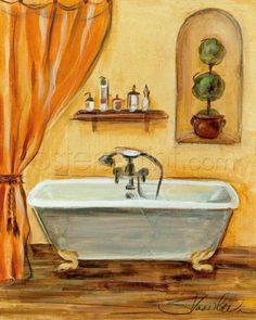Tuscan Bath I Art Print Poster by Silvia Vassileva Online On Sale at Wall Art Store – Posters-Print.com