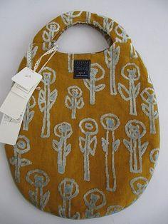 wonderful colors, shape, texture! 'daydream' bag by mina perhonen for drop. via http://www.mina-kaitori.com/