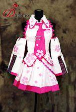 Vocaloid Hatsune Miku Sakura Cosplay Costume Pink/White Party Dress Custom New