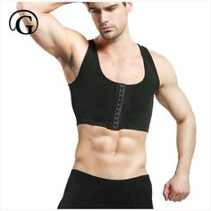 5bc16b5c54 PRAYGER Male control chest binder trainer Bra Gynecomastia Chest Shaper  Vest tops Men Posture Corrector Compression Shirt Corset  erotic  corsets   bra ...
