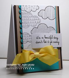 I adore clouds and homemade cards :)