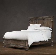 One day, I'll have this bed. St. James Framed Panel Bed Antiqued Coffee