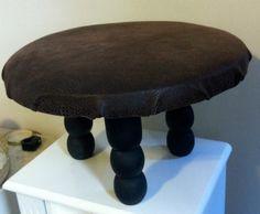 Small Upholstered Foot stool -- Hidden Gem Furniture