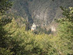 Vista del santuario di san Romedio in Val di Non - Trentino - Italy