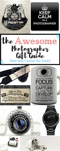 Everyone needs awesome presents, even with a super small budget! Here's the photographer gift guide that will help you find the coolest merchandise for the most focused photographer.