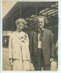 Alice and Elbert Hubbard's last photo - prior to boarding the Lusitania.- New York City Pier - May 1915