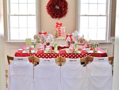Kids Christmas party // Celebrations At Home Blog --Tons of other ideas here too
