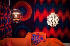 Verner Panton. Red navy 70s lounge