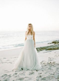 25 Best Colored Wedding Dresses for the Fine Art Bride on Wedding Sparrow