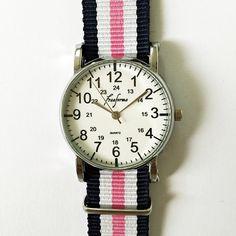 Taft Avenue Collegiate Watch, Vintage Style Watch, Women Watches, Unisex Watch, Boyfriend Watch,Men's Watch,Choose your Bands,Freeforme 2015